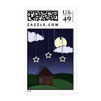 Paper Moon Postage Stamp