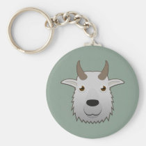 Paper Mountain Goat Keychain