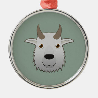 Paper Mountain Goat Christmas Tree Ornaments