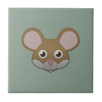 Paper Mouse Ceramic Tile