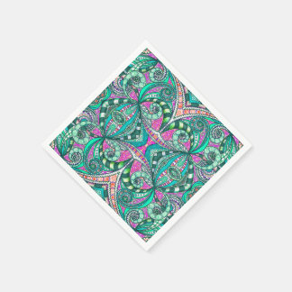 Paper Napkin Drawing Floral