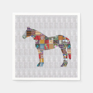 Paper Napkin - Horse Race ART by  Navin JOSHI