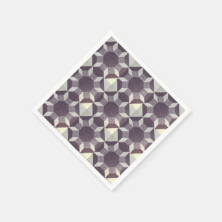 Paper Napkin - Purple Quilt Pattern