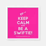 [Electric guitar] keep calm and be a swiftie!  Paper Napkins