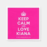 [Crown] keep calm and love kiana  Paper Napkins