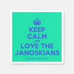 [Crown] keep calm and love the janoskians  Paper Napkins