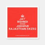 [Crown] jat' bishnoi chadi jodhpur rajasthan-342312  Paper Napkins