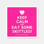 [Love heart] keep calm and eat some skittles!  Paper Napkins