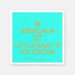[Cupcake] keepcalm and eat little baby's ice cream  Paper Napkins