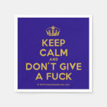 [Dancing crown] keep calm and don't give a fuck  Paper Napkins