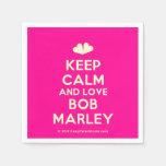 [Two hearts] keep calm and love bob marley  Paper Napkins