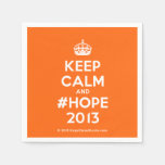 [Crown] keep calm and #hope 2013  Paper Napkins