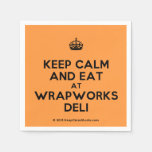 [Crown] keep calm and eat at wrapworks deli  Paper Napkins