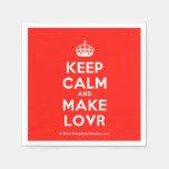 [Crown] keep calm and make lovr  Paper Napkins