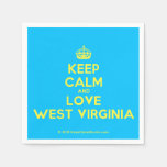 [Crown] keep calm and love west virginia  Paper Napkins