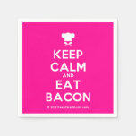[Chef hat] keep calm and eat bacon  Paper Napkins