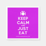 [Cutlery and plate] keep calm and just eat  Paper Napkins