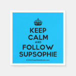 [Crown] keep calm and follow supsophie  Paper Napkins