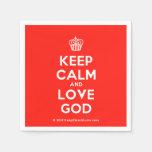 [Cupcake] keep calm and love god  Paper Napkins
