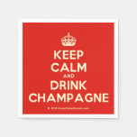 [Crown] keep calm and drink champagne  Paper Napkins