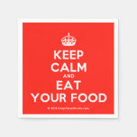 [Crown] keep calm and eat your food  Paper Napkins