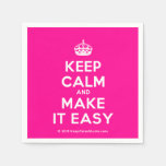 [Crown] keep calm and make it easy  Paper Napkins