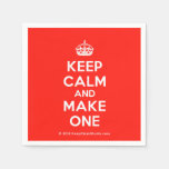 [Crown] keep calm and make one  Paper Napkins