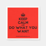 [Crown] keep calm and do what you want  Paper Napkins