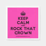 [Crown] keep calm and rock that crown  Paper Napkins