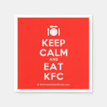 [Cutlery and plate] keep calm and eat kfc  Paper Napkins