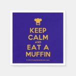 [Chef hat] keep calm and eat a muffin  Paper Napkins