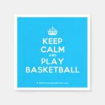[Crown] keep calm and play basketball  Paper Napkins
