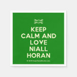 [UK Flag] keep calm and love niall horan  Paper Napkins
