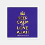 [Crown] keep calm and love ajah  Paper Napkins