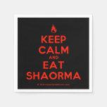 [Campfire] keep calm and eat shaorma  Paper Napkins