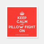 [Crown] keep calm and pillow fight on  Paper Napkins