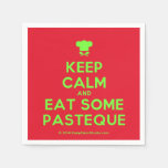 [Chef hat] keep calm and eat some pasteque  Paper Napkins