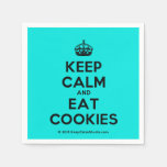 [Crown] keep calm and eat cookies  Paper Napkins