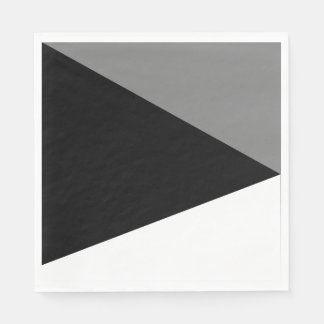 Paper napkins Abstracts Gray Trio