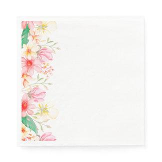 Paper Napkins-Floral Print Napkins