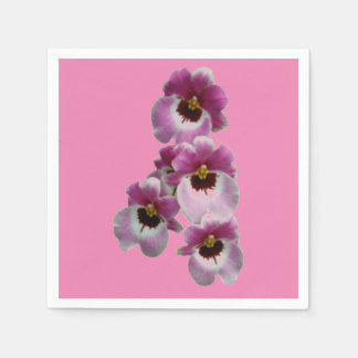 Paper Napkins - Pansy Orchid