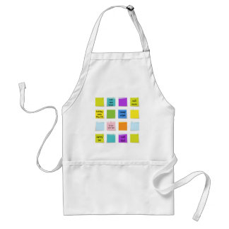Paper Notes Adult Apron