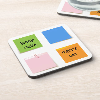 Paper Notes Drink Coasters
