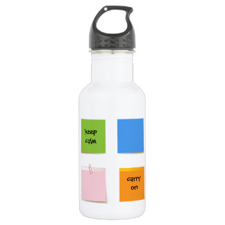 Paper Notes Stainless Steel Water Bottle