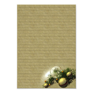 """Paper of letter """"Balls breams of Christmas """" Card"""
