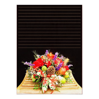 "Paper of letter ""floral Arrangement "" Card"