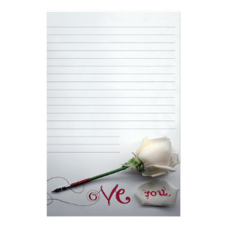 """Paper of letter """"Love You """" Stationery"""