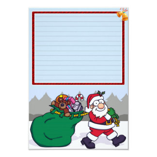 """Paper of letter """"Papa Noel with presents """" Card"""
