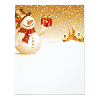 "Paper of Present snow letter """" Card"