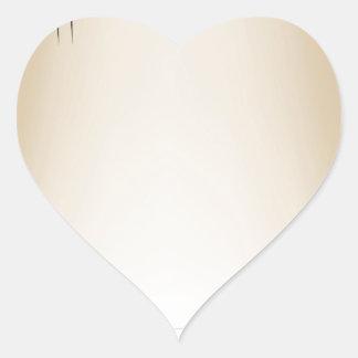 Paper official certificate heart sticker